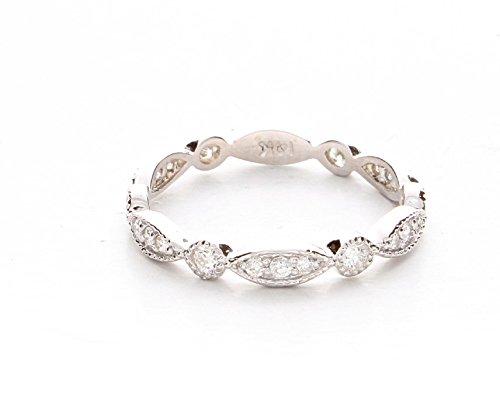 art deco wedding band vintage wedding band milgrain wedding ring unique diamond wedding