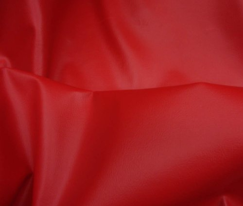 Red 2 Way Stretch Upholstery Faux Leather Vinyl Fabric Per Yard ()