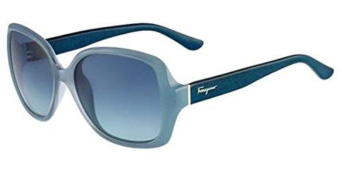 Salvetore Ferragamo Sunglasses SF715S 443 Azure Petrol Wood 56 15 ()
