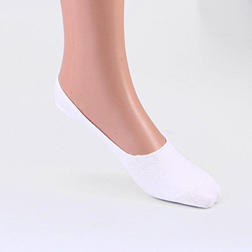 LUOEM レディース スニーカーソックス 靴下 ガールズ コットン 可愛い 無地 通気性 吸湿性 通学 通勤 3足セット(ホワイト)
