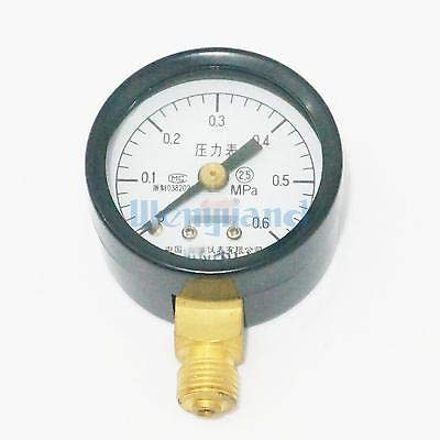 Ochoos 0-0.6Mpa Measurement Range Y-40 Radial Mount M10x1 Air Compressor Pressure Gauge Dial Diam 40mm Pneumatic Parts