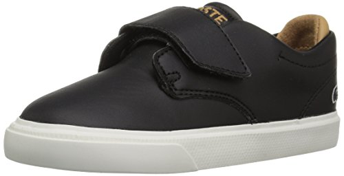 (Lacoste Unisex ESPARRE 118 1 CAI Sneaker Black/Light tan 10.5. M US Little Kid)