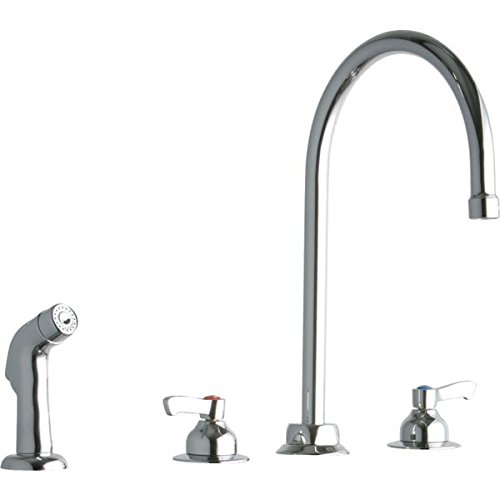Elkay LK801GN08L2 Chrome Concealed Deck Faucet with 8