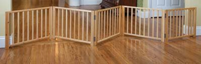 Four Paws Freestanding Walk Over Pet Gate Size: 17.5