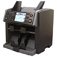 Amrotec X-1 Currency Discriminator, Mixed Denomination Money Value Bill Counter and Sorter Two Pocket Multiple Currency Discriminator and Currency, Money and Bill Counting Machine