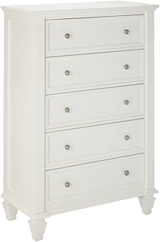 Sandy Beach 5-Drawer Chest White