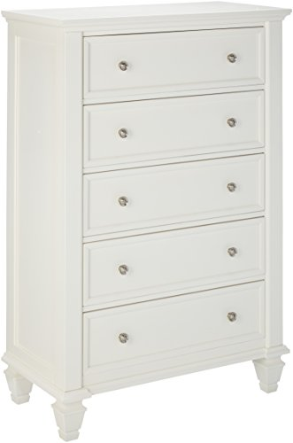Sandy Beach 5-Drawer Chest White (Dresser Coaster Company)