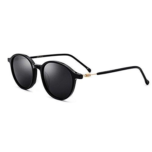 hombres de aire Lente de de Novedad Playa Protección Brillant de Marco Conducción los Personalidad Gafas UV polarizada de gafas al Pesca diseñador sol sol libre redondas Pequeñas tonos acetato fibra 6SpavnwSq