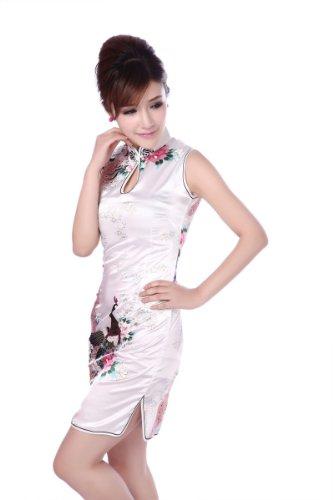 JTC Damen Minikleid Cheongsam Etuikleider Qipao kurz Party Abendkleider