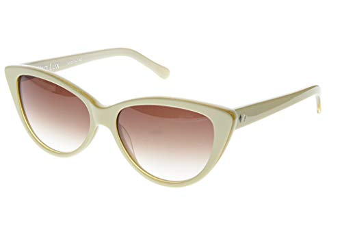 Cream Womens Sunglasses - Tres Noir Women's Ultra Lux Cat-Eye Sunglasses,Cream & Gold Sparkle,53 mm