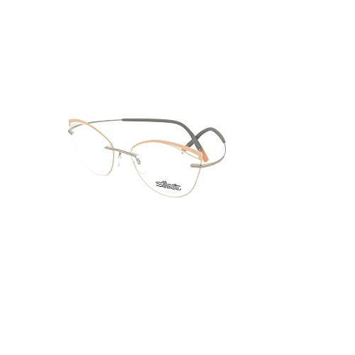 82d30485f92 Eyeglasses Silhouette TMA Icon Accent Rings (5518) 7010 cool grey salmon  54 17 at Amazon Men s Clothing store