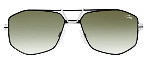 Cazal 9073 Sunglasses 003SG Black Silver / Green Gradient Lens 61 - Aviator Sunglasses Cazal