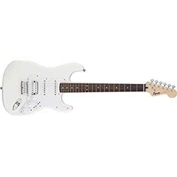 Squier by Fender Bullet Stratocaster Electric Guitar - HSS - Hard Tail - Rosewood Fingerboard - Arctic White