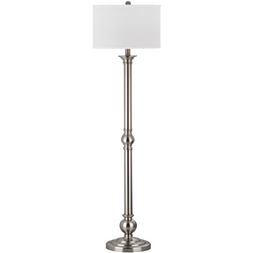 Safavieh Lighting Collection Theo Nickel 60-inch Floor Lamp (Transitional Floor Twist Lamp)