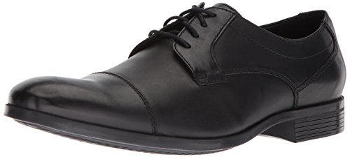 CLARKS Men's Conwell Cap Oxford, Black Leather, 9 M US ()