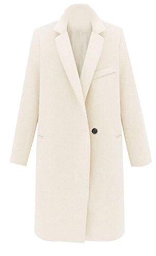 Parka Women amp;W amp;S M Winter 4 Single Breasted Jackets Overcoat Wool q7FfAxw