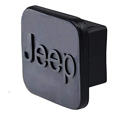 Car Trailer Hitch Cover,with Jeep Logo for Jeep Accessories Receiver Tube Hitch Plug(Black) (for Jeep): Automotive