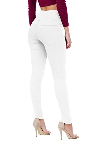 Women's Butt Lift V3 Super Comfy Stretch Denim Jeans P45075SKX White 22