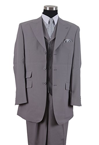 Milano Moda mens Suit 3 Piece Set Solid Regular Fit HL905V New York Brand by Milano Moda