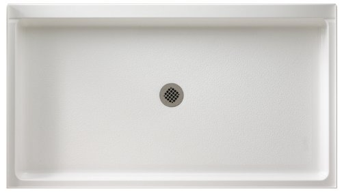 (Swanstone SS-3260-010 Solid Surface Center Drain Shower Base, 60-Inch by 32-Inch by 5-1/2-Inch, White)