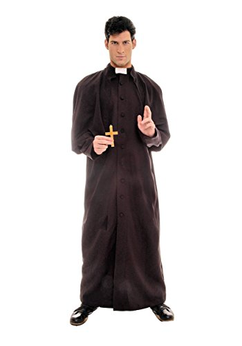 [Deluxe Priest Costume - One Size - Chest Size 42-46] (Priest Halloween Costume Deluxe)