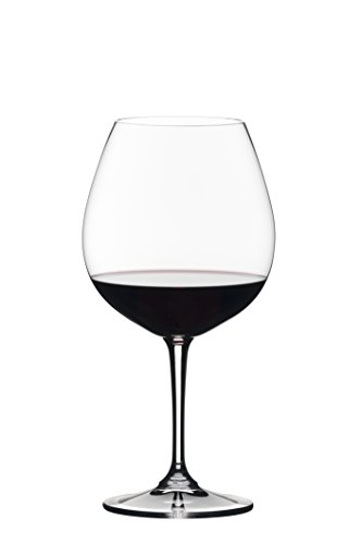 Noir Glasses - Riedel 0484/07 Vivant Pinot Noir Wine Glass, Set of 4, Clear