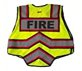 FIRE NINJA FIRE VEST-Class 2 Reflective - High Visibility Public Safety Vest - Bright Neon Reflective Colors - Double Breakaway Zipper - For Fire and Public Saftey Departments (3XL - Red)