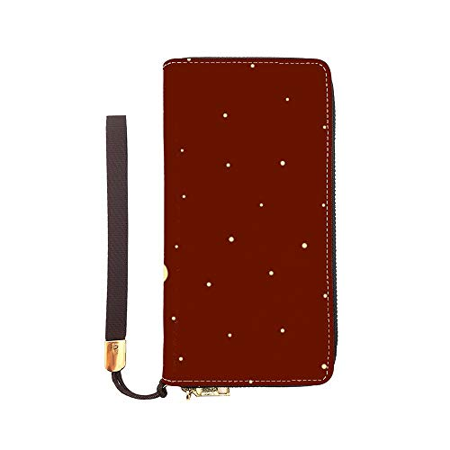 Women Long Wallet Leather...