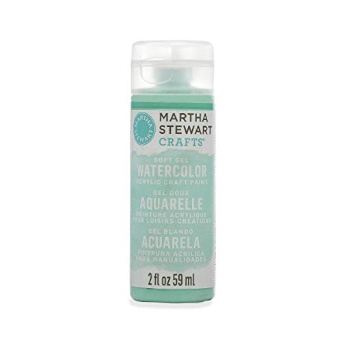 Martha Stewart Crafts Soft Gel Watercolor Acrylic Paint in Assorted Colors (2 Ounce), 33412 Beach -