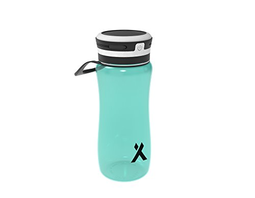 Bear Grylls 3-in-1 Solar Water Bottle Light with Bright LEDs and Portable USB Charger - BPA Free (Teal)