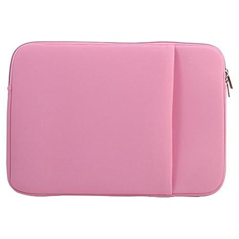 DealMux Neopreno Ordenador arañazos Diseño Exterior del Bolsillo de protección para portátiles de Color Rosa para Aire de MacBook Pro de 12 Pulgadas: ...