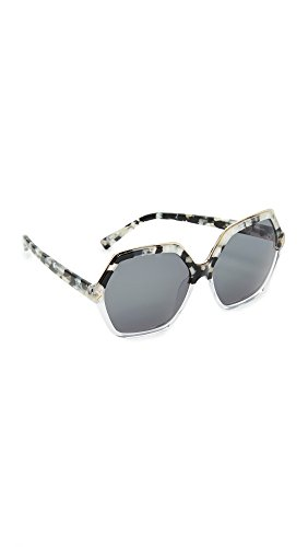 KENDALL + KYLIE Women's Ludlow Sunglasses, Black Speckled/G-15, One - Sunglasses Kendall And Kylie