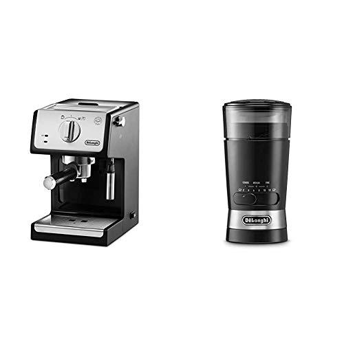 De'longhi ECP33.21 – Cafetera espresso, 1100 W, capacidad 1.1 l, café molido y monodosis, negro y plata + De'Longhi…