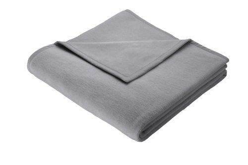 Biederlack Wohn- und Kuscheldecke, 60 % Baumwolle, Veloursband-Einfassung, 150 x 200 cm, Grau, Orion Cotton, 239961