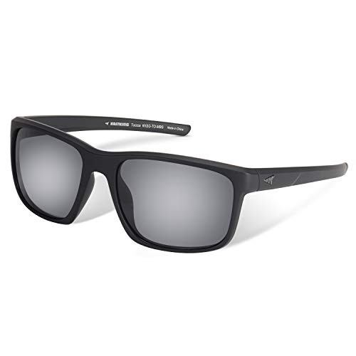 KastKing Toccoa Polarized Sport Sunglasses, Matte Blackout Frame, Smoke Lens