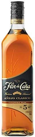 Ron Flor de Caña 5 Años Añejo clasico - 1 botella de 70 cl