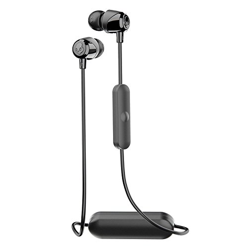 Skullcandy Jib Bluetooth Wireless In-Ear Earbuds with Microphone for Hands-Free Calls, 6-Hour Rechargeable Battery, Included Ear Gels for Noise Isolation, Black/Street