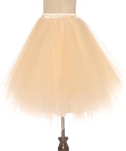 Royal Tutu Bleu Ballet Couche Crinoline cm Bubble 65 Long BeiQianE Femmes Tulle Multi Jupe Slips Annes 50 Jupon 1wTSaq