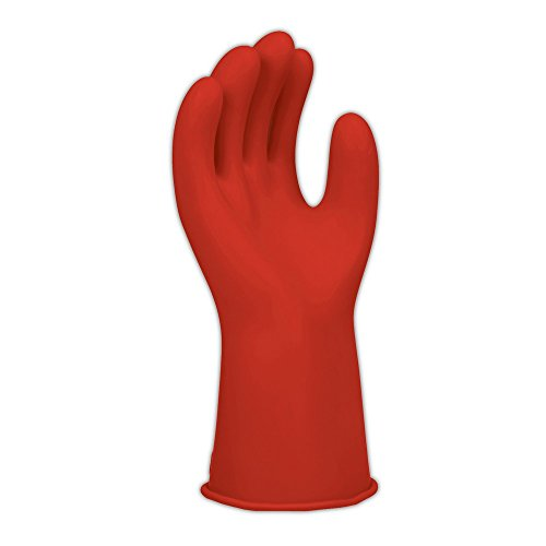 """Salisbury Electrical Gloves & Accessories E011R-11 E011 11"""" Class 0 Rubber Linemen's Electrical Gloves, Size 11, Red"""