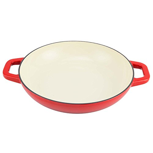 Zelancio Cookware 3 Quart Enameled Cast iron Casserole Dish with lid - Perfect for Brazing, Slow Cooking, Simmering and Baking (Cayenne Red)