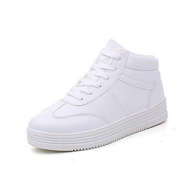 moda tonda Scarpe CN36 abbigliamento fodera bianco EU36 di RTRY UK4 Autunno donna Inverno Stivali fluff similpelle US6 nero punta casual Stivali per x4B1w17qd0