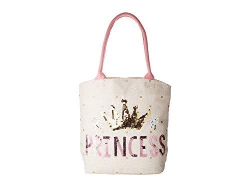 Mud Pie Baby Boutique Pretty Princess Dazzle Tote,White,One Size