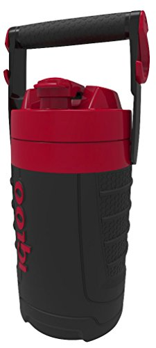Igloo 1/2 gallon Insulated Hydration Jug, Black/Red Heat, 64 oz