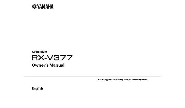 Manual yamaha pdf rx-v671