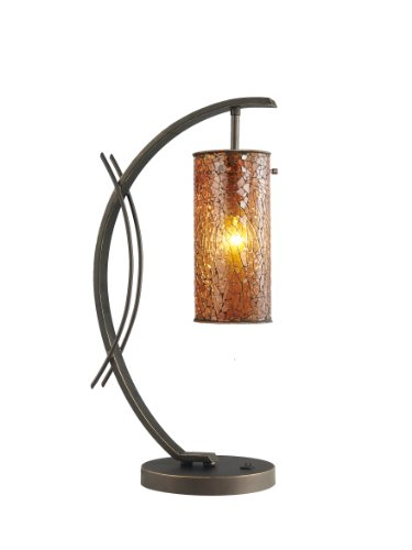13482MEB-M10AMB Eclipse 1-Light Table Lamp, 7-1/2-Inch by 21-3/4-Inch, Metallic Bronze ()