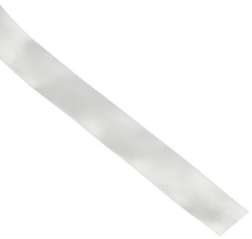 Offray Single Face Satin Craft Ribbon, 1 1/2-Inch x 12-Feet, White (Single 12' Silk)
