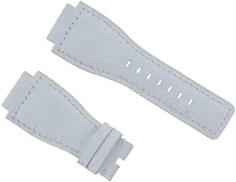 59e1acb7e Ewatchparts 24MM Leather Watch Band Strap for Bell & Ross Watch BR-01-BR