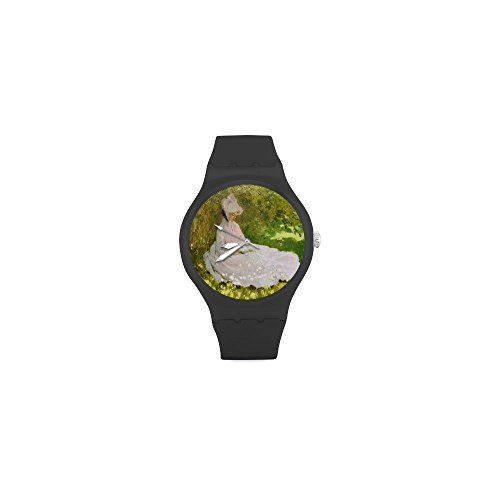 Special Design Famous Painting Woman Reading by Claude Monet Custom Unisex Stainless Steel Watch, 100% Stainless Steel, Metal ()