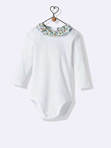 Cyrillus - Body bébé col en Liberty blanc col liberty floribunda-Blanc col 95edf1eed90