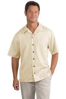 Port Authority - Easy Care Camp Shirt - Ivory S535 M (Camp Care Authority Easy Shirt)